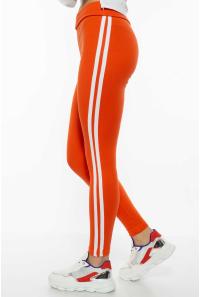Лосины женские спортивные с лампасами 611F001