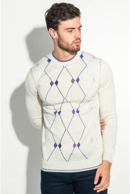 Джемпер мужской с геометрическим орнаментом 50PD484