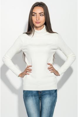 Гольф женский с фактурными полосками на плечах и груди 131V005