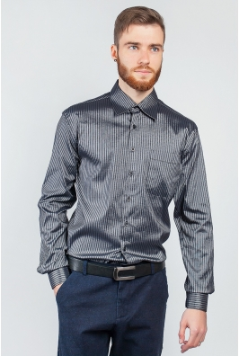 Рубашка серая мужская KS-138