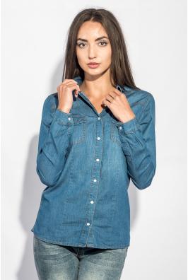 Рубашка женская джинсовая тонкая 248F004