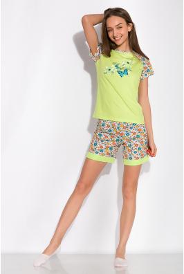 Пижама женская с принтом бабочки 107P2