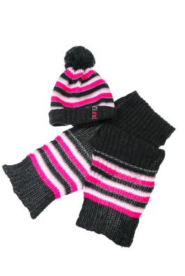 Комплект детский шапка и шарф в полоску 65P15-013 junior