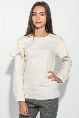 Блузка женская с оборкой на плечах, рукав длинный 64PD275