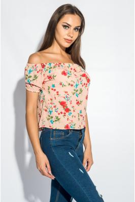 Блуза женская с резинкой на плечах 266F011-1