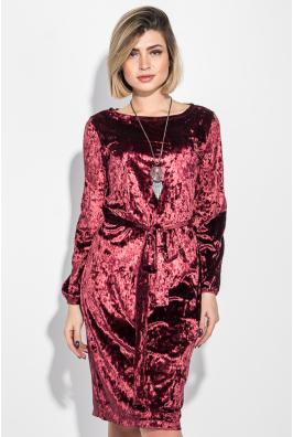 Платье женское велюровое, с аксессуаром 70PD5015