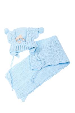 Комплект детский шапка и шарф нашивка «Мишки» 65P15-031 junior
