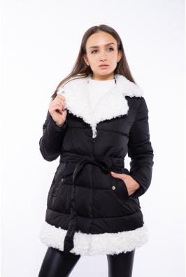Женская куртка с меховым воротником 120PSKL5153