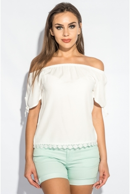 Блуза женская с завязками на плечах 266F011-3