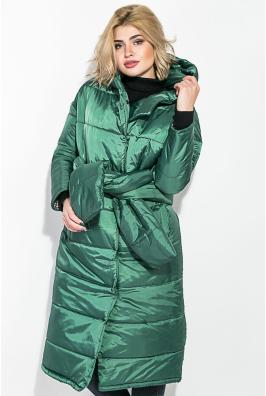 Пальто женское на синтепоне, с широким поясом 72PD215