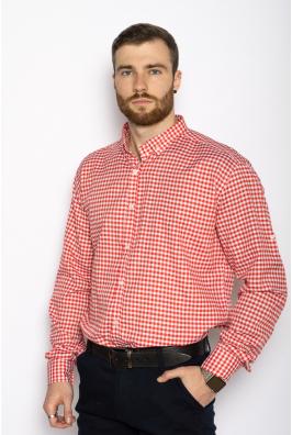Рубашка мужская в клетку  511F007