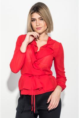 Блузка женская на запах, с оборками 68PD508
