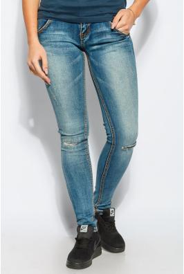 Джинсы женские рваные коленки 928K001