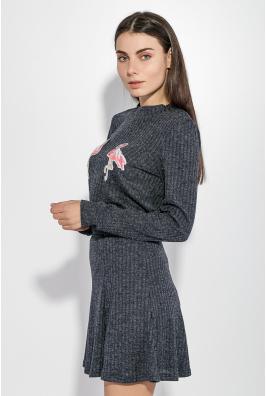 Костюм женский (юбка, джемпер) с нашивками