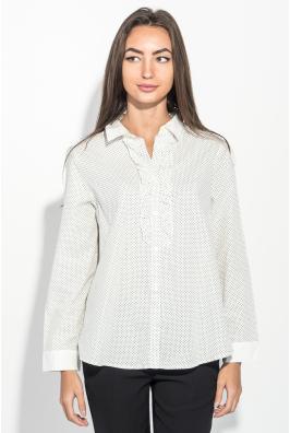 Рубашка женская праздничная, с рюшами 270V002-4