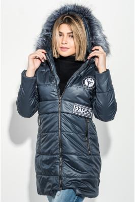 Куртка женская с элементами декора на поясе и груди 69PD893