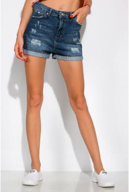 Модные джинсовы шорты сподкатами 162P016