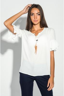Блузка женская с перьями 419F004