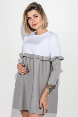Платье женское двухцветное, свободного покроя 72PD148