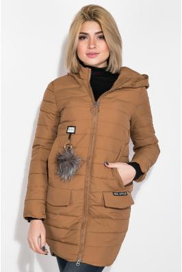 Куртка женская с пушком на кармане  173V001