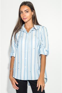 Рубашка женская в крупную полоску 51P002