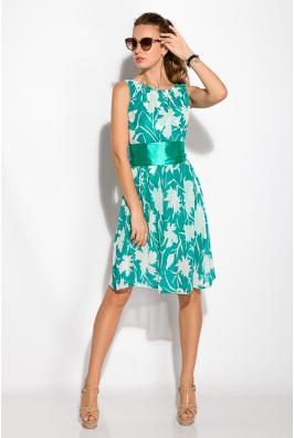 Платье женское с круглым вырезом 964K027