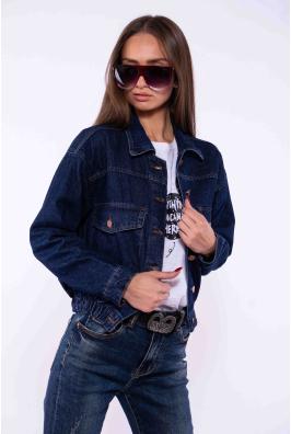 Куртка джинсвоая на резинке 179P511