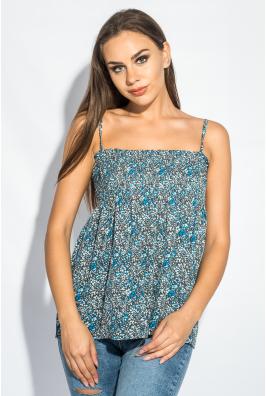 Блуза женская с нежным цветочным принтом 266F011-7