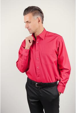 Рубашка мужская красная Fra №877-12