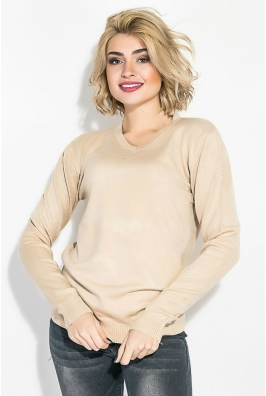Пуловер женский, однотонный, базовый 127V001