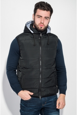Жилет мужской теплый, с капюшоном и карманами 70PD5009