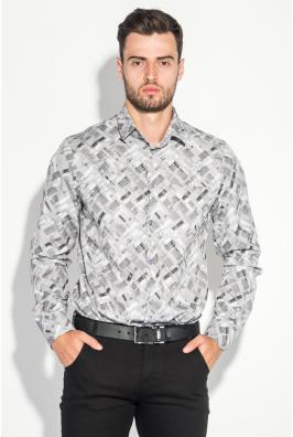 Рубашка мужская светлый принт 3220-4