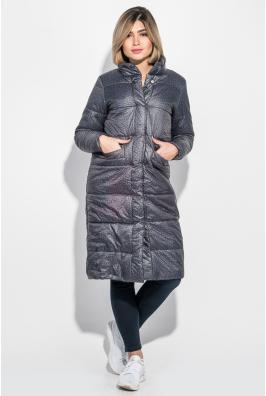 Пальто женское на кнопках, теплое, принт меланж 69PD978