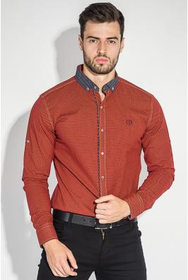 Рубашка мужская воротник в мелкий горошек 50PD0054