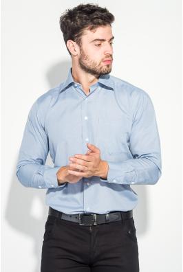 Рубашка мужская в мелкую клетку, с крупным карманом 50PD0029