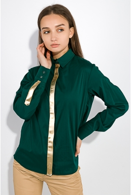 Блузка женская с планкой в золоте 64PD229-1