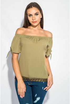 Блуза женская с широким кружевом 266F011-4