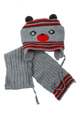 Комплект детский (для мальчика) шапка и шарф