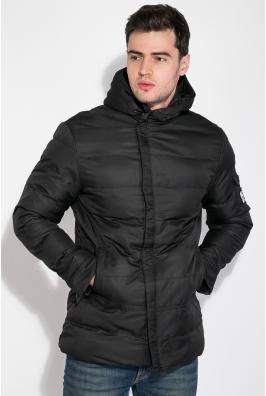 Куртка мужская с нашивкой и капюшоном 183V001