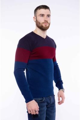 Пуловер трехцветный 520F006