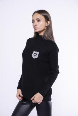 Стильный свитер с изнаночными швами 174P006