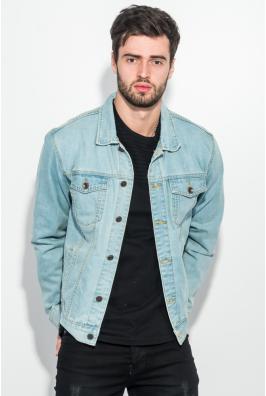 Куртка джинс мужская с принтом на спине 272V001