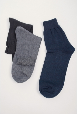 Носки мужские однотонные, темные №21P002