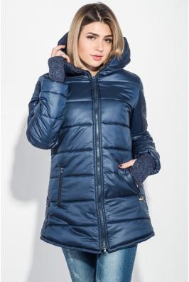 Куртка женская зимняя, однотонная, на молнии 74PD800