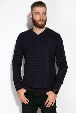 Пуловер с комбинированной вязкой 520F021