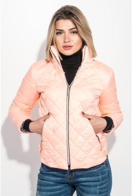 Куртка женская однотонная, стеганая, с карманами 72PD198