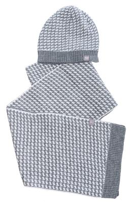 Комплект мужской шарф, шапка с декорированием 65P3537