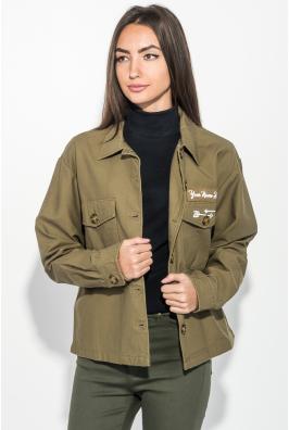 Куртка женская стильная, с нашивками 209V001