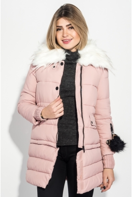 Куртка женская с отстегивающимся низом, крупный брелок на рукаве 315V001