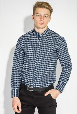 Рубашка мужская теплая, в клетку 50PD0041-4